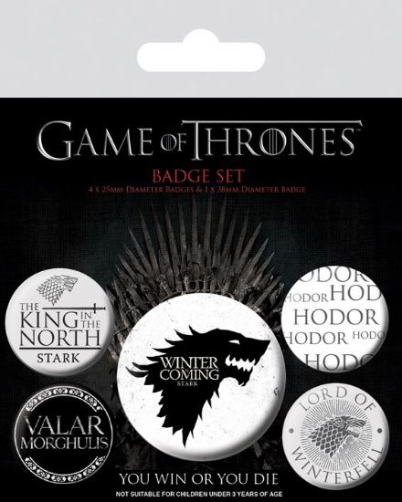 Game of Thrones House Stark Badge Pack